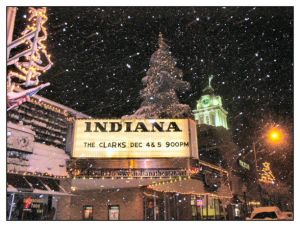 Downtown Indiana in snow